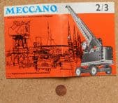 Meccano Catalogue vintage 1964 for model toy kit crane forklift bulldozer car